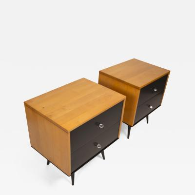Paul McCobb Paul McCobb Planner Group Series Solid Maple Nightstands for Winchendon