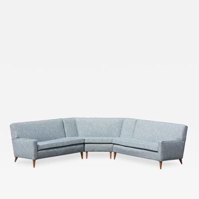 Paul McCobb Paul McCobb Sectional Corner Sofa Custom Craft Planner Group Newly Upholstered