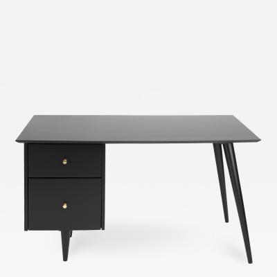 Paul McCobb Paul McCobb Stylish Desk In Ebonized Maple 1950s Signed
