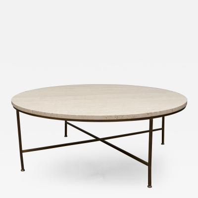 Paul McCobb Paul McCobb Travertine Round Coffee Table