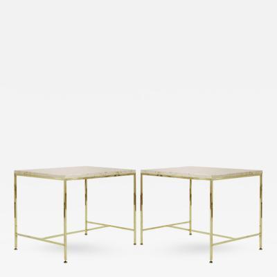 Paul McCobb Paul McCobb for Directional Brass Side Tables Model 8722