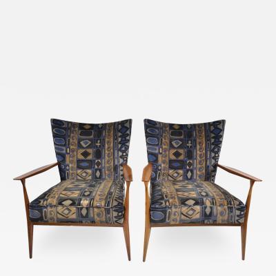 Paul McCobb Paul McCobb for Directional Pair of Armchairs with Lenor Larsen Fabric