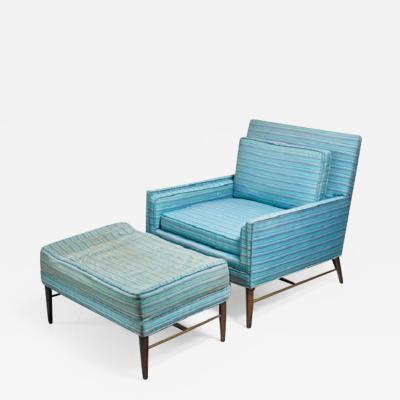 Paul McCobb Paul McCobb lounge chair with ottoman for Calvin American 1950s