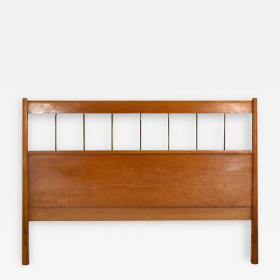 Paul McCobb Paul mccobb planner group mid century modern full size headboard brass birch