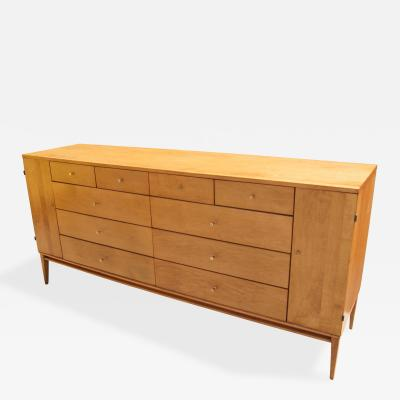 Paul McCobb Planner Group 20 Drawer Maple Dresser by Paul Mccobb
