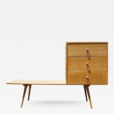Paul McCobb Planner Group Three Drawer Chest on Low Table by Paul McCobb for Winchendon