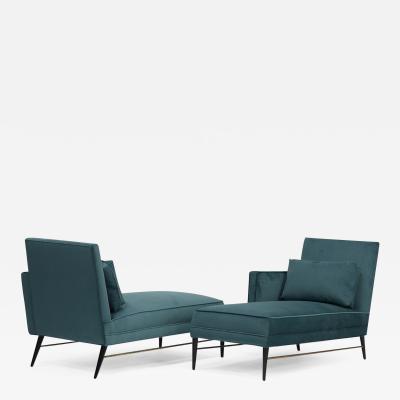 Paul McCobb Rare Pair of Chaise Lounge Chairs by Paul McCobb