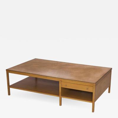 Paul McCobb Rare Paul McCobb Coffee Table with Leather Top for Calvin