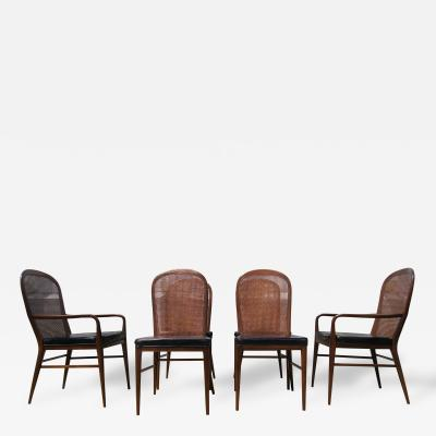 Paul McCobb Rare Set of Cane Dining Chairs by Paul McCobb for H Sacks