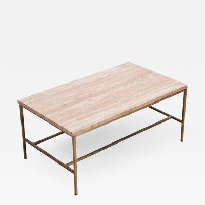 Paul McCobb Rare Travertine Coffee Table by Paul McCobb for Calvin