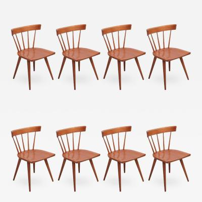 Paul McCobb Set of Eight Paul McCobb Spindle Back Chairs for Winchendon USA 1950s