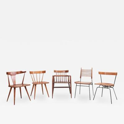 Paul McCobb Set of Five Different Paul McCobb Planner Group Chairs for Winchendon