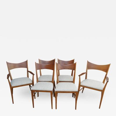Paul McCobb Set of Six Irwin Group Walnut Chairs by Paul McCobb for Calvin
