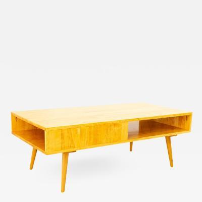 Paul McCobb Style Orwa Designs Blonde Coffee Table