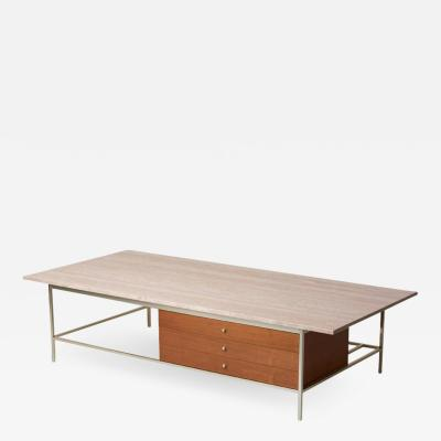 Paul McCobb Travertine Stone Top Coffee Table by Paul McCobb for Directional WK