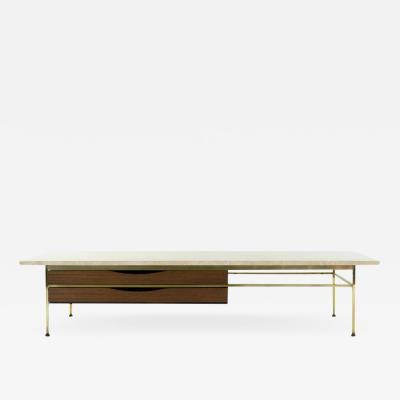 Paul McCobb Travertine Top Coffee Table by Paul McCobb 1950s