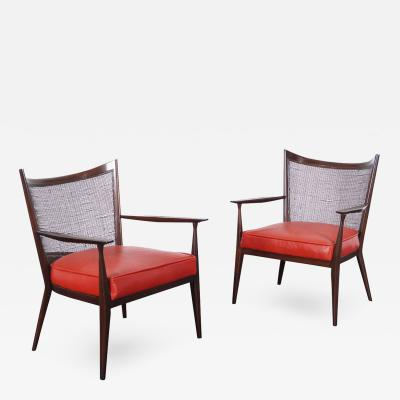 Paul McCobb Vintage Leather Lounge Chairs by Paul McCobb