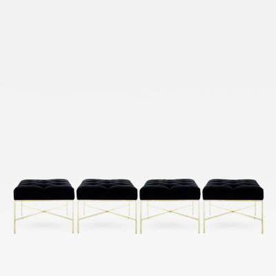Paul McCobb X Base Brass Stools by Paul McCobb for Directional