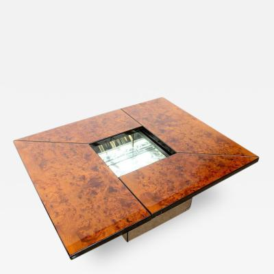 Paul Michel Paul Michel Burl Wood Multi Functional Coffee Table