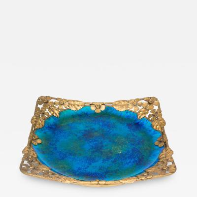 Paul Millet Platter with Gilt Metal Surround by Paul Millet for Sevres