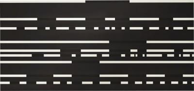 Paul Mogensen Dot Dash Painting on Black