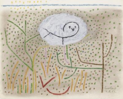 Paul Rand Untitled Owl in the Grass