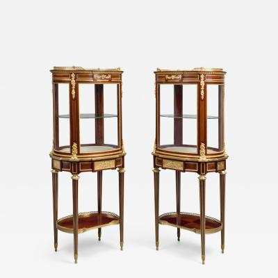 Paul Sormani A Pair of Louis XVI Style Vitrines de Milieu