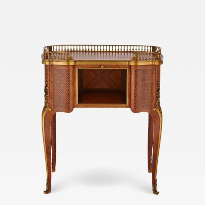Paul Sormani Antique parquetry writing desk with gilt bronze mounts by Sormani