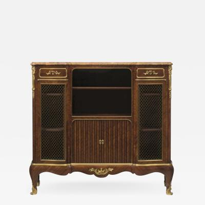 Paul Sormani Gilt Bronze Mounted Br che dAlep Marble Top Bibliotheque by Paul Sormani