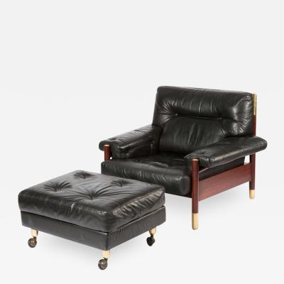 Paul Sormani Lounge Chair with Ottoman by Carlo de Carli for Sormani