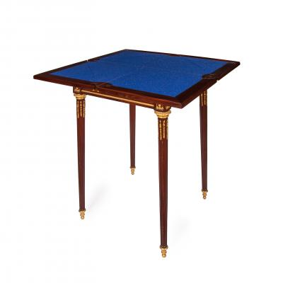 Paul Sormani Ormolu rosewood and mahogany antique card table by Sormani
