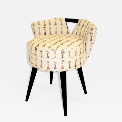 Paul T Frankl 1940s Johnson Furniture Modern Swivel Stool by Paul Frankl