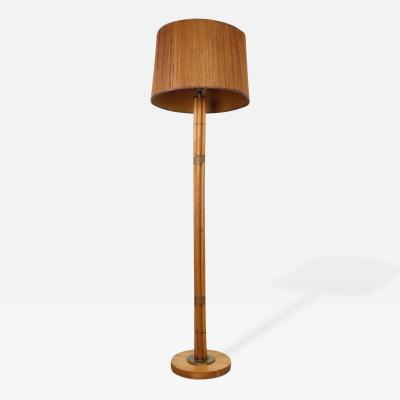 Paul T Frankl Bamboo Floor Lamp in the Manner of Paul Frankl