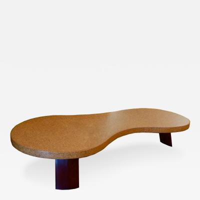 Paul T Frankl Cork Mohagany Coffee Table by Paul Frankl Model 5028