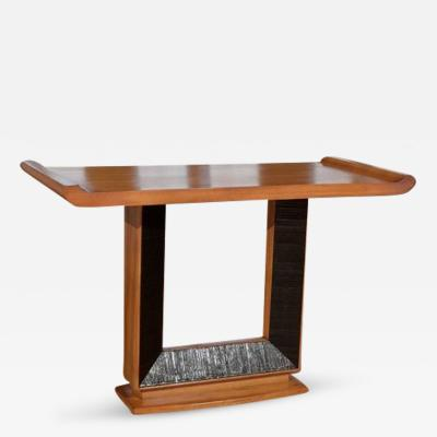 Paul T Frankl Iconic Altar Console by Paul Frankl for Brown Saltman in Ribbon Mahogany