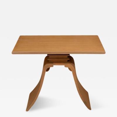 Paul T Frankl Oak Side Table by Paul Frankl for Brown Saltman