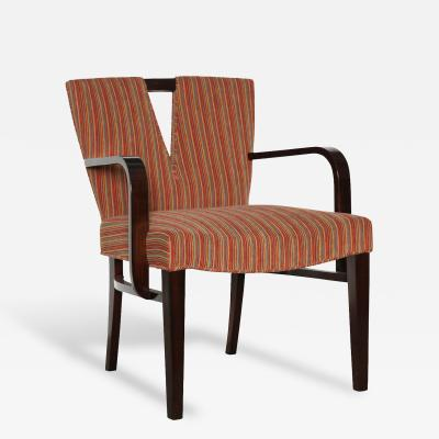 Paul T Frankl Open Arm Chair by Paul Frankl for Johnson Furniture