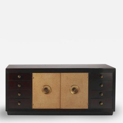 Paul T Frankl Paul Frankl Art Deco Dresser Credenza with Lacquer and Brass