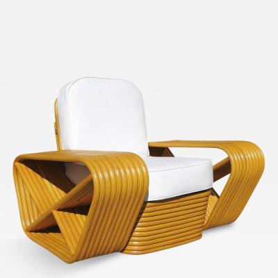 Paul T Frankl Paul Frankl Style Ten Strand Square Pretzel Rattan Lounge Chair