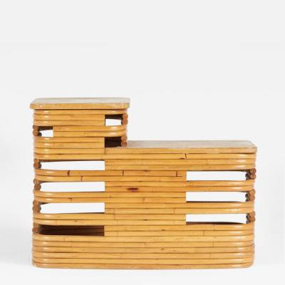 Paul T Frankl Paul Frankl Two Tiered Rattan End Table