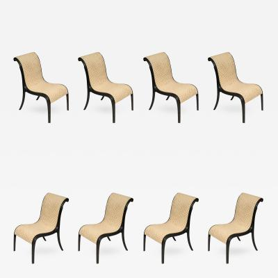 Paul T Frankl Rare Set of Eight Paul Frankl Skyscraper Dining Chairs