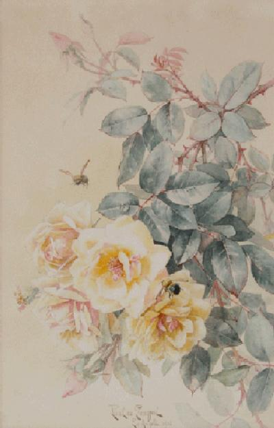 Paul de Longpre Rose Golden Dream