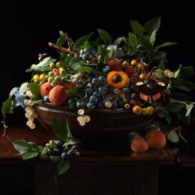 Paulette Tavormina Blueberries and Apricots 2013 From the series Natura Morta