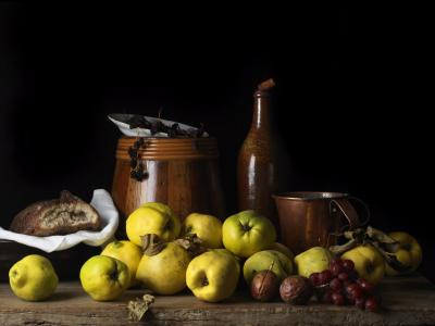 Paulette Tavormina Still Life with Quince and Jug after L M from the series Bodeg n 2014