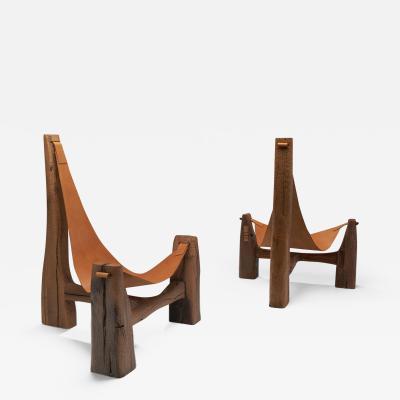 Pavel Novak Pair of Tripod Lounge Chairs by Pavel Novak Czechoslovakia 1980s