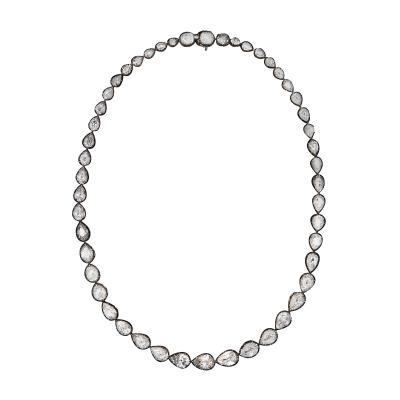 Pear Shape Diamond Riviere Necklace