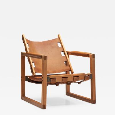 Peder Hansen Safari Chair by Peder Hansen in Eucalyptus Wood and Leather New Zealand 1967