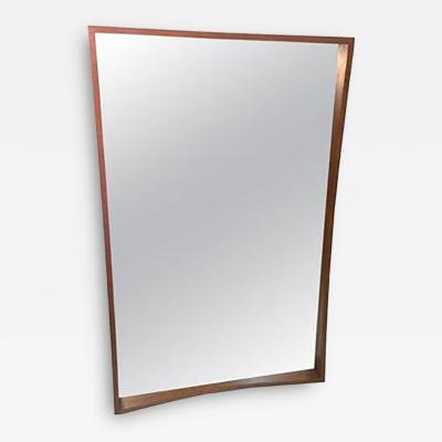 Pedersen Hansen Beautiful Modernist Danish Splined Teak Mirror