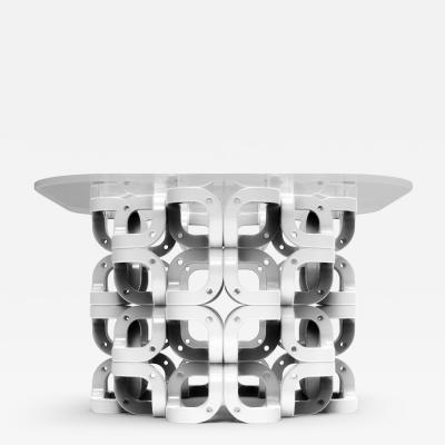 Pedro Cerisola CUMULUS side table white