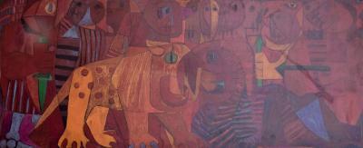 Pedro Coronel Pedro Coronel Mix Media Lithograph Mexican Modernist